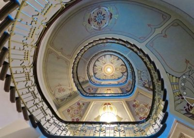 Riga - Rue Alberta 3 – Escalier au Musée Art Nouveau - K. Pēkšēns