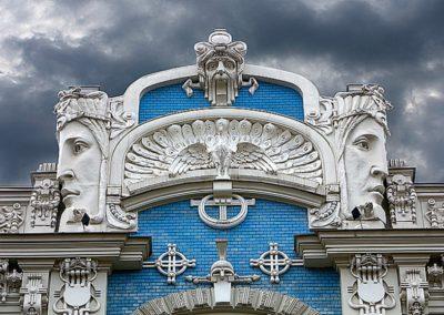 Riga - Rue Elizabetes 10b Pignon de la maison d'habitation - M.Eisenshtein