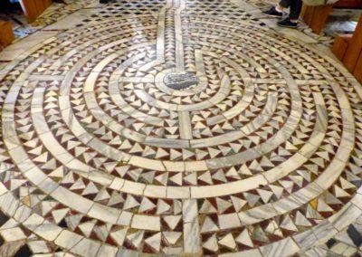 Basilique Saint-Vital de Ravenne et ses sols en labyrinthe